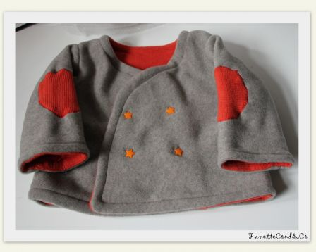 Gilet polaire orange